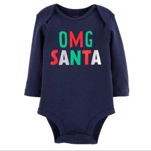 5/$25 Carter's 'OMG Santa' Bodysuit
